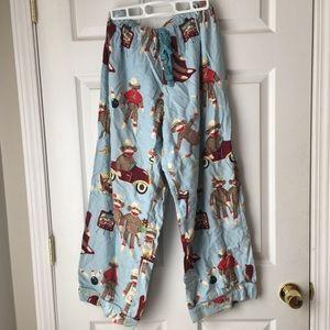 Sock monkey youth pajamas